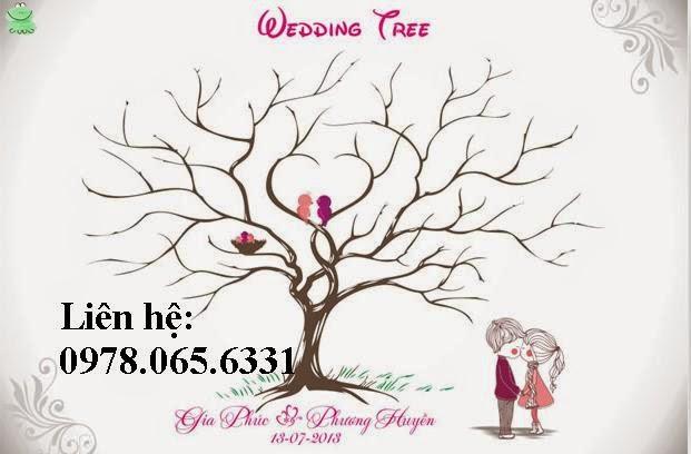 tranh in vân tay đám cưới