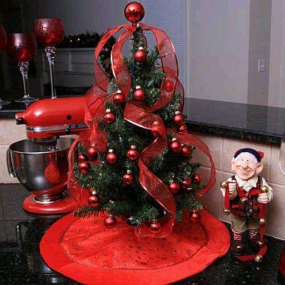 Red christmas trees 2 - Arboles decorados de navidad ...