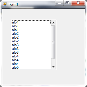Exemple de ListBox dans Visual Basic