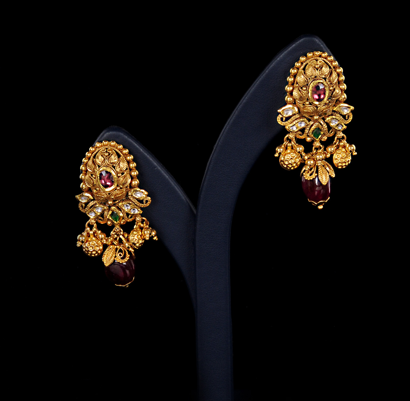 Ladies New Brands: Wedding Bridal Gold Ladies Earrings Designs 2013-15