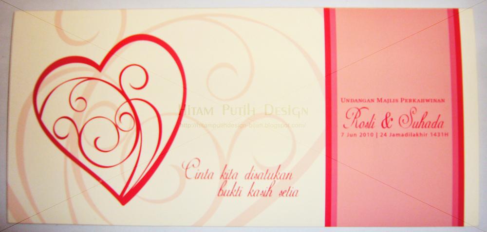 Hitam Putih Design: Kad Kahwin