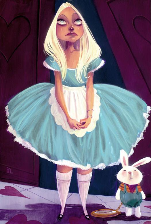 devin crane ilustrações pinturas mulheres modelos esguias olhos grandes