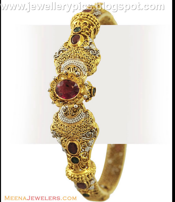 Awesome Antique Bangle Collection From Meena Jewellers