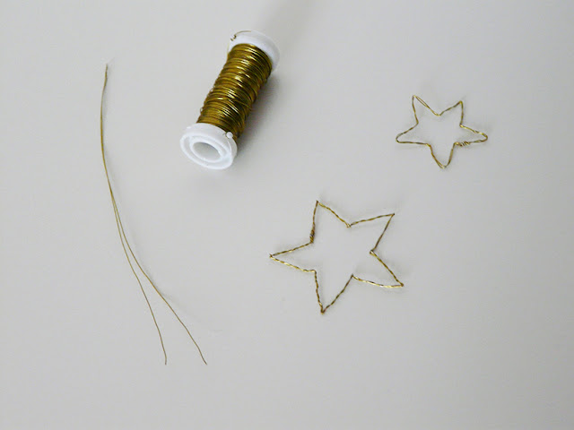 Etoiles en fil de fer - DIY