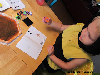Make a counting book with themed stamps