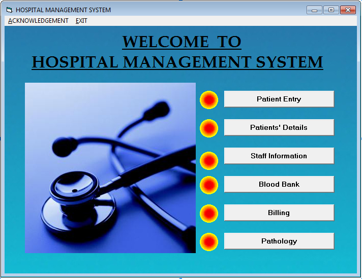Hospital management system project in php