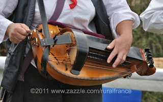 A French vielle or hurdy gurdy