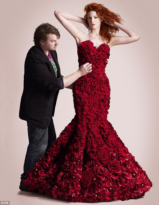 The dress was designed by 23-year-old Joe Massie, three-time winner of the RHS Chelsea Young Florist of the Year award.