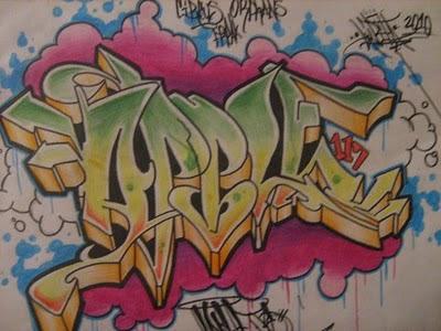 Graffiti Arrow Alphabet in the Cloud