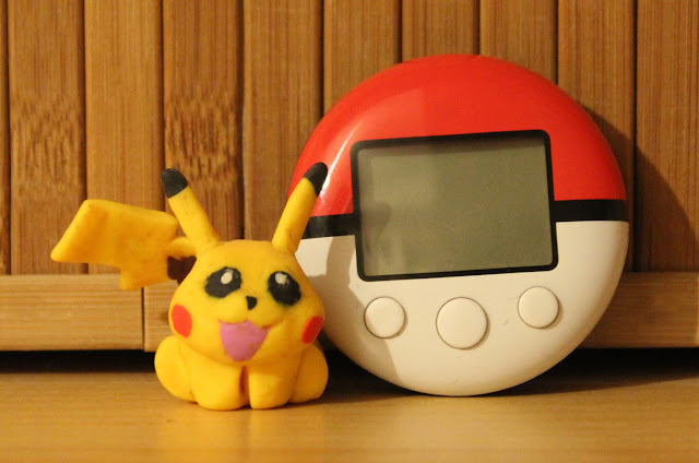 Pikachu polymer clay and Pokéwalker!