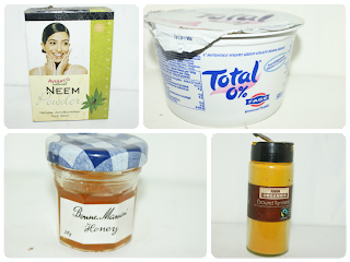 DIY Neem and turmeric mask for blemish skin