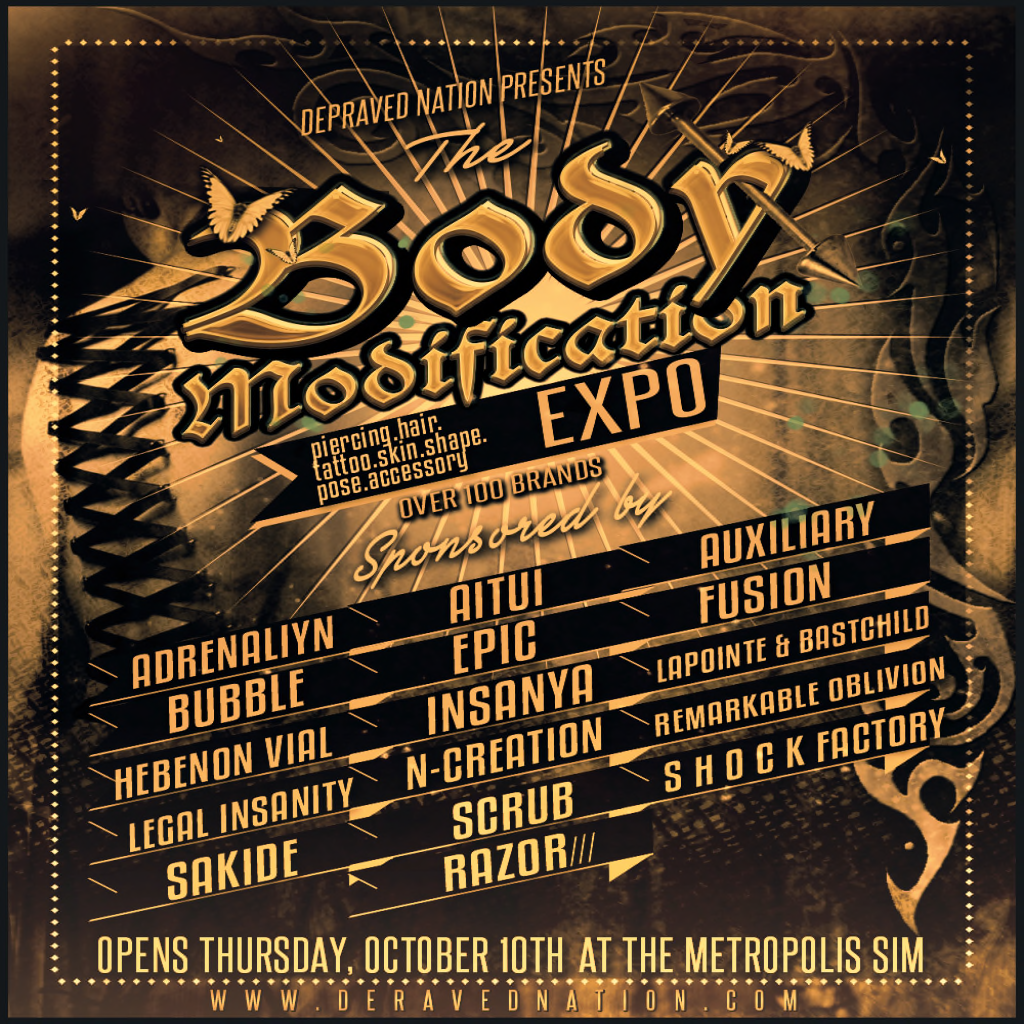Fashion Stylez Of Secondlife: EVENT  The Body Modification Expo