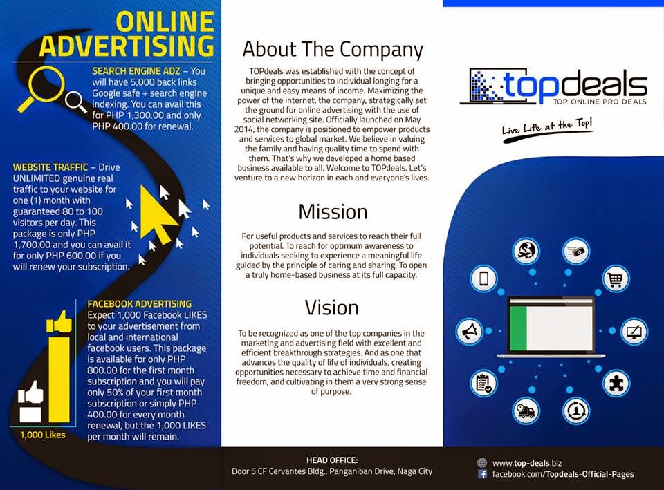 top deals online job about the company mission and vision
