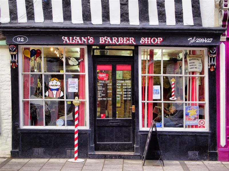 Alan´s barber shop Tewkesbury