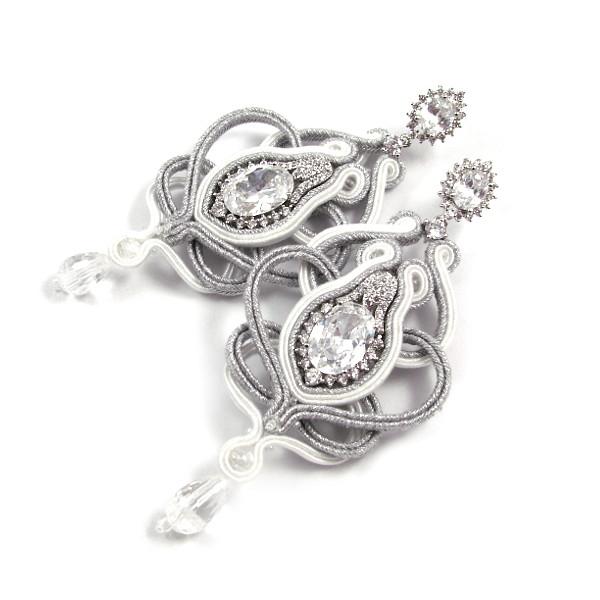 Kryształowe kolczyki ślubne