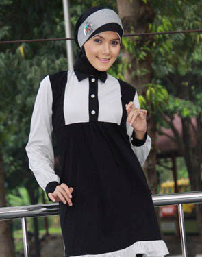 Zenitha Koleksi Busana Muslim Ukuran Big Size hitam abu