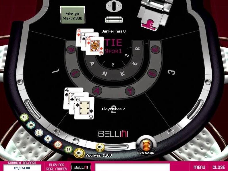 Casino Bellini Baccarat Screen