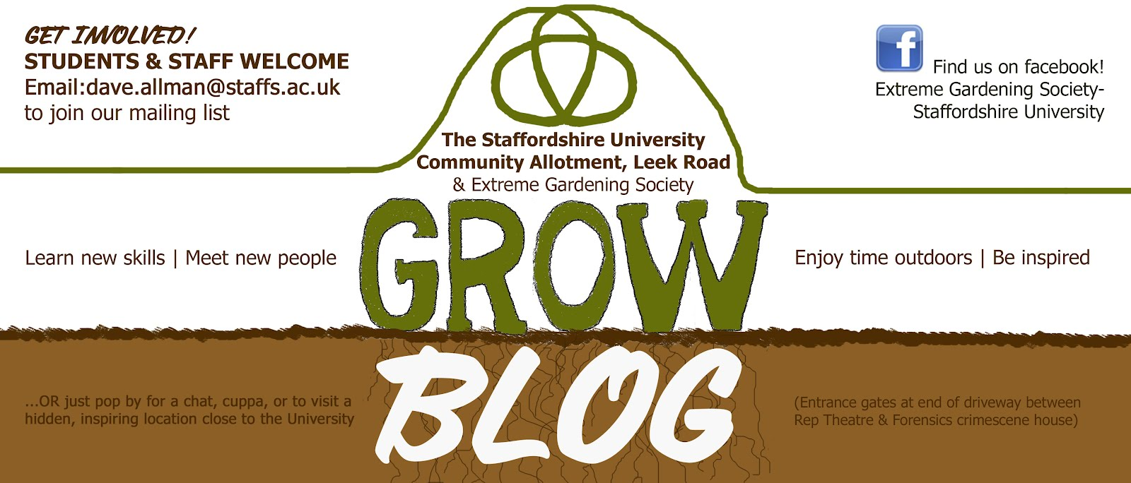 STAFFORDSHIRE UNIVERSITY COMMUNITY GARDEN and EXTREME GARDENING SOCIETY