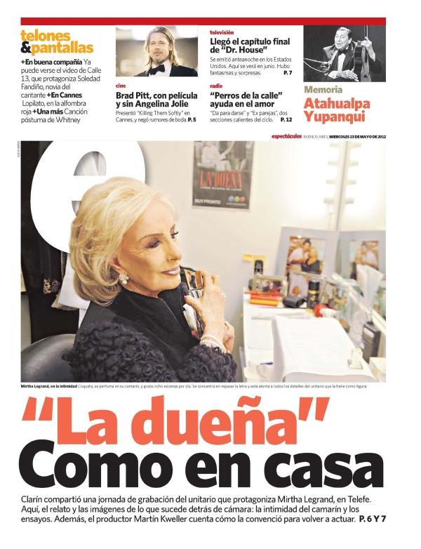 Nota Clarin Espectaculos La Due A 23 05 2012 Noticias
