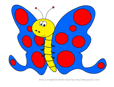 funny cartoon butterfly clip art for kids
