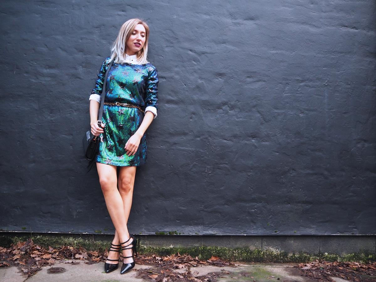 Star Sequin Shift Dress Boohoo - Rock On Holly Blog