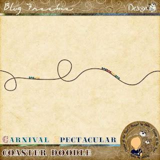Carnival Spectacular | Coaster Doodle by DeDe Smith (DesignZ by DeDe)