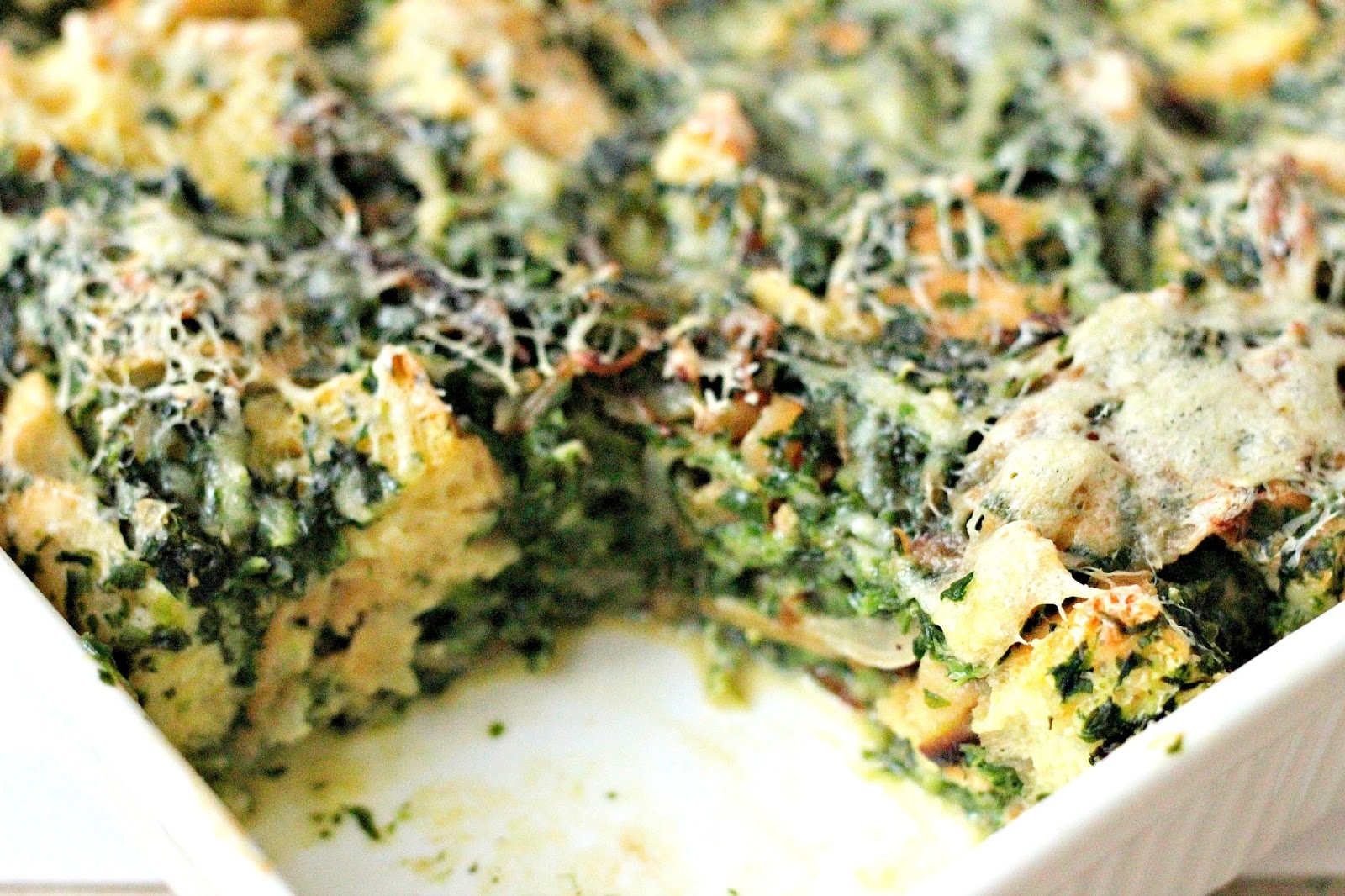 Spinach And Cheese Strata Recipe — Dishmaps
