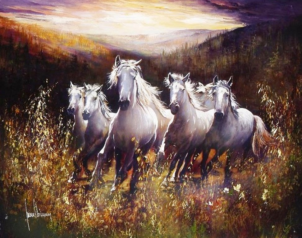 pinturas-caballos-salvajes-oleos