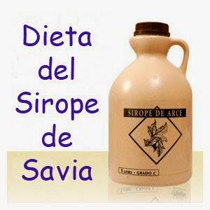 DIETA DE SIROPE DE SAVIA