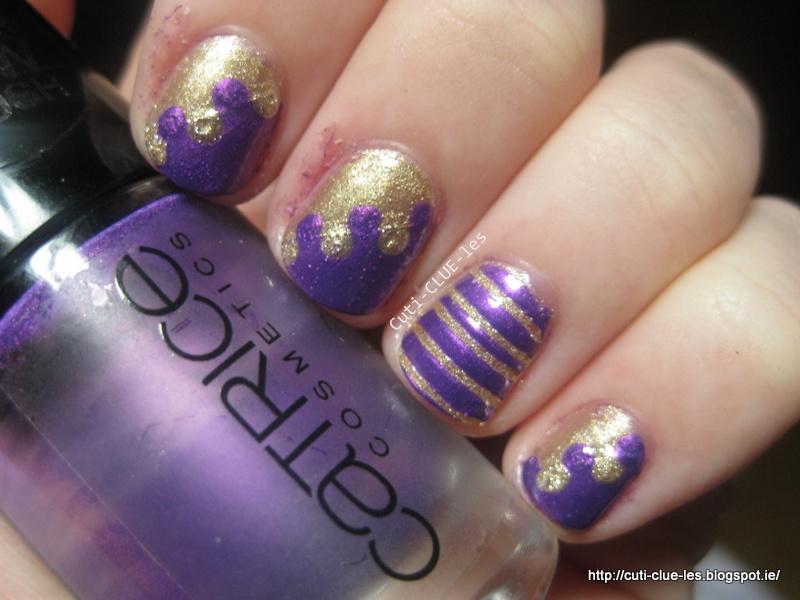 CutiCLUEles: Twinsie Tuesday Interlocking nail design