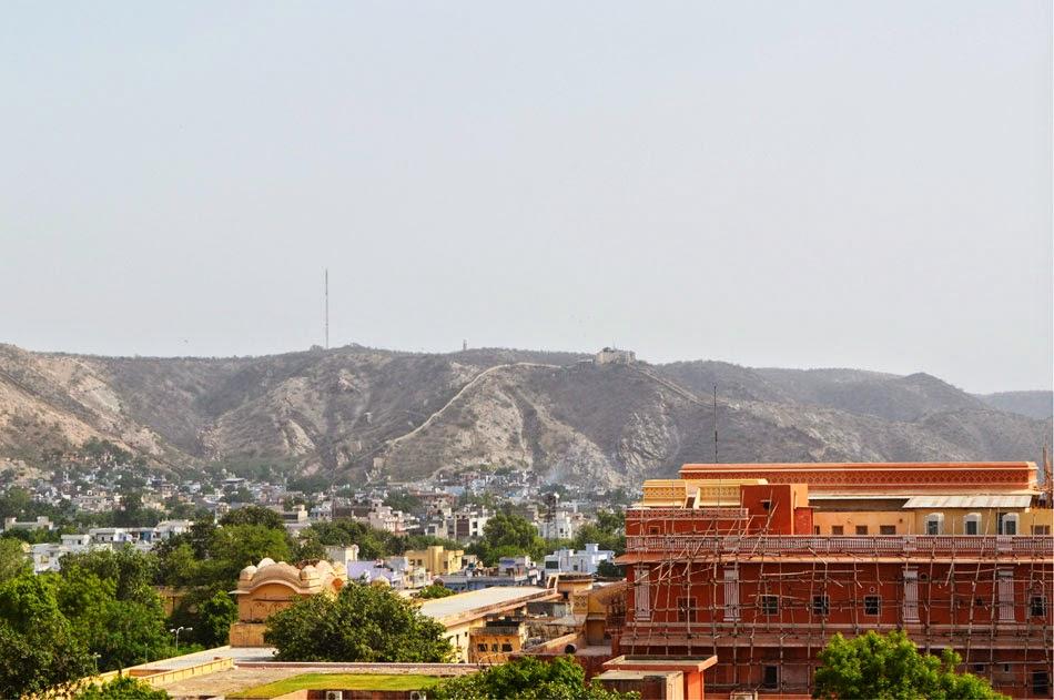 Gad ganesh jaipur vew from Hawa Mahal