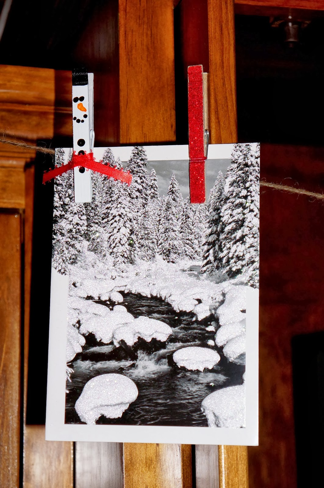 Snowman Garland Card Holder