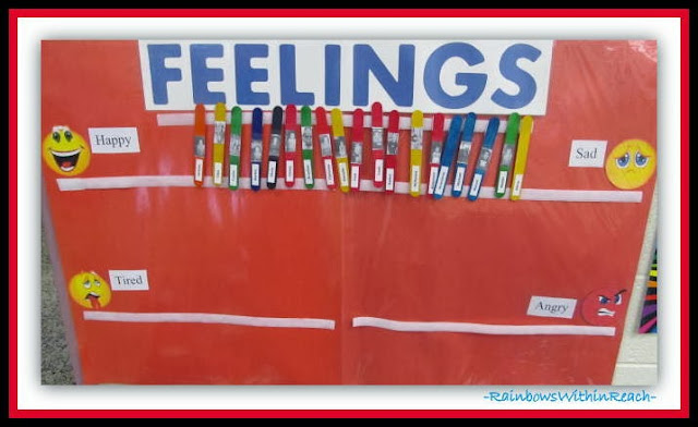 Feelings Chart in Head Start Classroom via RainbowsWithinReach