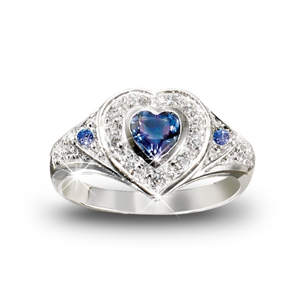 Design Wedding Rings Engagement Rings Gallery Beautiful Heart Tanzanite And Diamond Heart