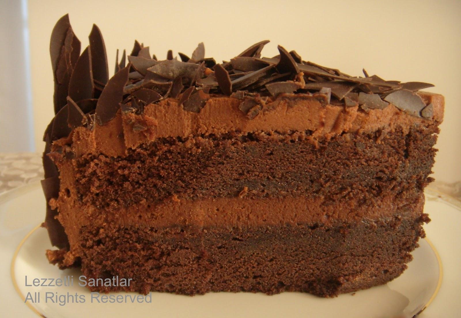 (Çikolata Rüyası) Armutlu Islak Kek Tarifi