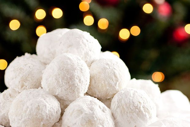 Ioanna's Notebook - Kourambiedes (Greek Christmas almond cookies)