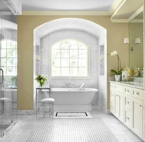 at home the freestanding tub hamptons style. Black Bedroom Furniture Sets. Home Design Ideas