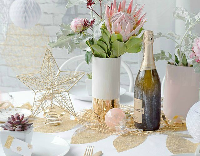 Decoraci n f cil new year tutorial para decorar la mesa - Decoracion mesa fin de ano ...