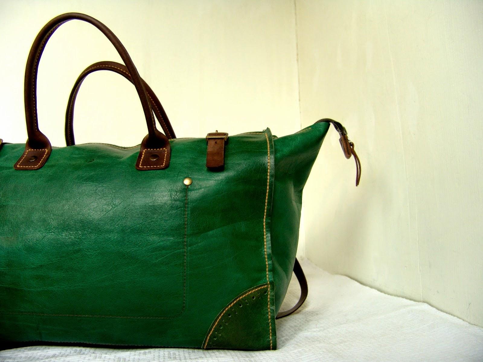 дорожная сумка из кожи