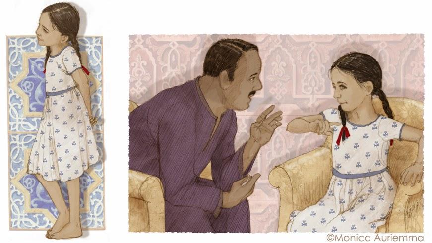 """Illustrazione. Il paradiso dei bambini. Monica Auriemma.""""Leggo perchè..."""" Mondadori Education"""
