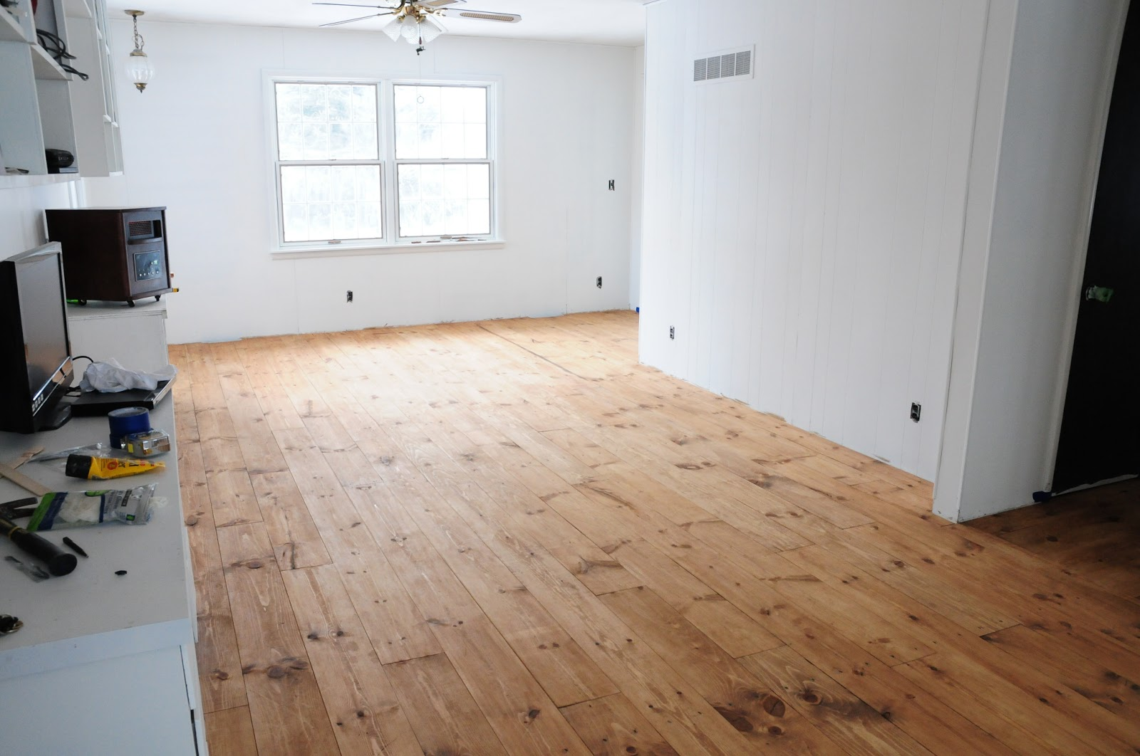 Plum tree place floors stained minwax early american for American floor