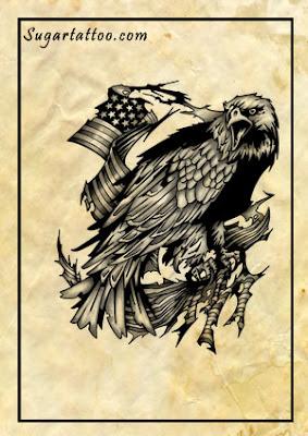 eagle tattoos,nature tattoos,wildlife tattoos,animal tattoos,patriotic tattoos,flag tattoos,usa tattoos,america tattoos,american tattoos