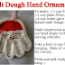 Salt Dough Hand Print Ornament