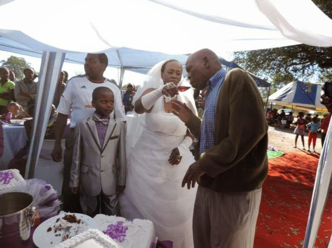 Boy, 9, marries 62-year-old woman for second time to make it 'official' in bizarre South African nuptials