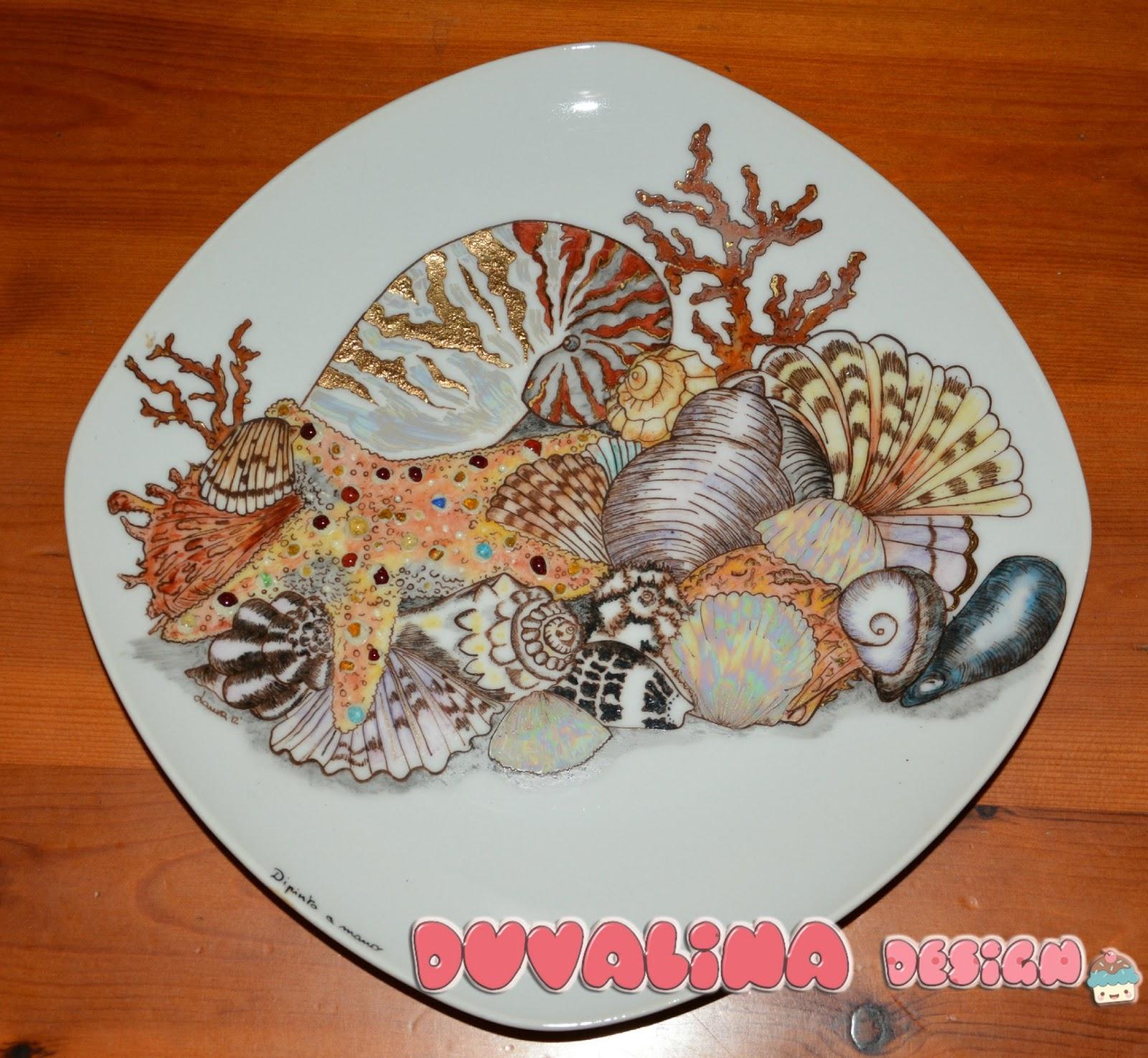 Duvalina design piatto con conchiglie for Design piatto
