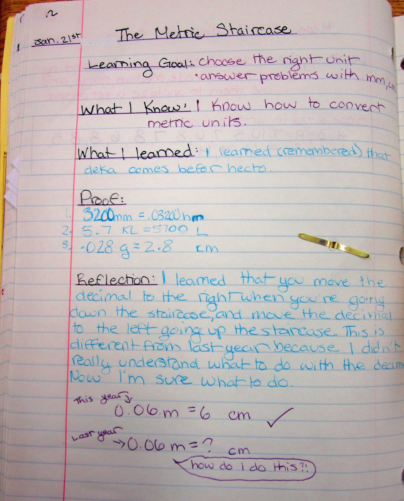 Runde\'s Room: Math Journal Sundays - Metric Conversions