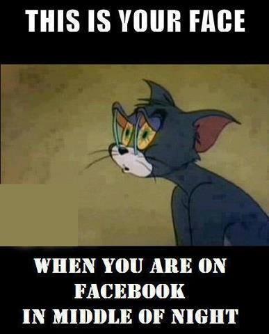 Using facebook at midnight