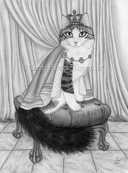 Prince Anakin The Two Legged Cat Drawing by Carrie Hawks Tigerpixie.com