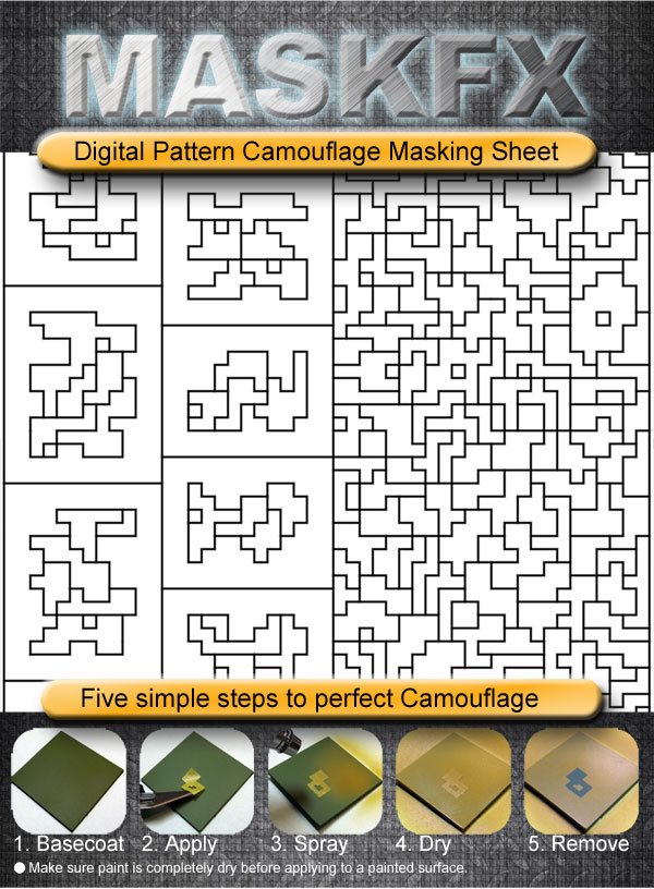 review of critical mass games maskfx digital camouflage masking sheets. Black Bedroom Furniture Sets. Home Design Ideas