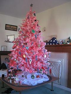 Arboles de Navidad Rosados